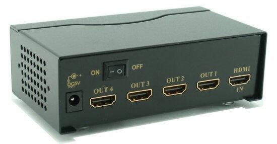 השכרת מפצל HDMI – יציאה ל-4 מסכים