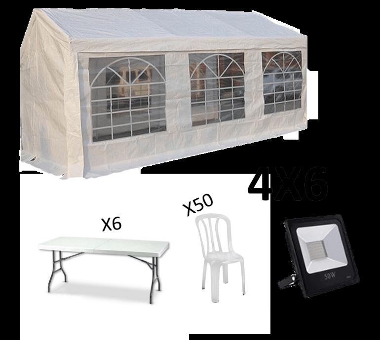 אוהל אבלים להשכרה 4X6